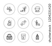 medication icon set. collection ... | Shutterstock .eps vector #1204231420