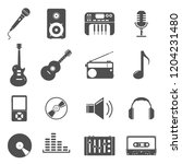 audio media ui icon set...
