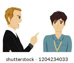 illustration of a teenage guy... | Shutterstock .eps vector #1204234033