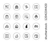 delivering icon set. collection ... | Shutterstock .eps vector #1204234420