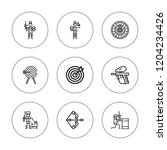 aiming icon set. collection of... | Shutterstock .eps vector #1204234426