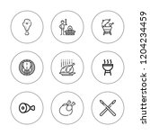 roast icon set. collection of 9 ... | Shutterstock .eps vector #1204234459