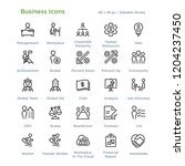 business icons   outline styled ... | Shutterstock .eps vector #1204237450