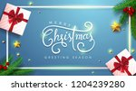 vector merry christmas and... | Shutterstock .eps vector #1204239280