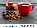 christmas mulled wine with...   Shutterstock . vector #1204242739