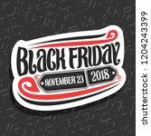 vector logo for black friday ...   Shutterstock .eps vector #1204243399