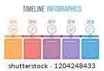 horizontal timeline... | Shutterstock .eps vector #1204248433