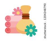 hot compresses towels flowers...   Shutterstock .eps vector #1204248790