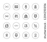 gentleman icon set. collection... | Shutterstock .eps vector #1204250356