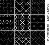 a set of geometric patterns | Shutterstock .eps vector #1204252903