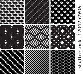 a set of geometric patterns | Shutterstock .eps vector #1204252906