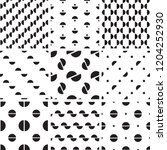 a set of 9 seamless geometric... | Shutterstock .eps vector #1204252930