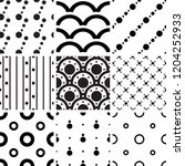 black and white geometric... | Shutterstock .eps vector #1204252933
