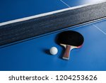 ping pong. accessories for... | Shutterstock . vector #1204253626