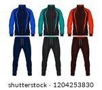 sport track suit design... | Shutterstock .eps vector #1204253830