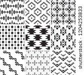 a set of geometric patterns | Shutterstock .eps vector #1204253833