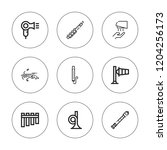 blow icon set. collection of 9... | Shutterstock .eps vector #1204256173