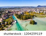 aerial view of annecy lake...   Shutterstock . vector #1204259119