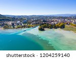 aerial view of annecy lake...   Shutterstock . vector #1204259140