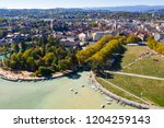 aerial view of annecy lake...   Shutterstock . vector #1204259143