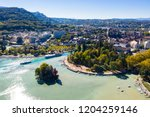 aerial view of annecy lake...   Shutterstock . vector #1204259146