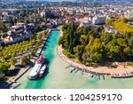aerial view of annecy lake...   Shutterstock . vector #1204259170