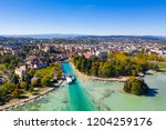 aerial view of annecy lake...   Shutterstock . vector #1204259176
