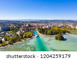 aerial view of annecy lake...   Shutterstock . vector #1204259179