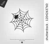 spider web and spider halloween ... | Shutterstock .eps vector #1204263760