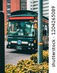 kobe  japan   may 2018  bus is...   Shutterstock . vector #1204265089