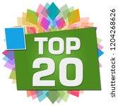 top twenty text written over...   Shutterstock . vector #1204268626