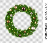christmas wreath isolated... | Shutterstock .eps vector #1204270570
