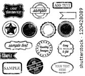 vector set of retro stamps and... | Shutterstock .eps vector #120428089
