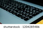 close up of laptop keyboard... | Shutterstock . vector #1204285486