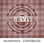 survive red emblem with... | Shutterstock .eps vector #1204286233