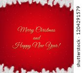 red winter xmas poster with... | Shutterstock .eps vector #1204291579