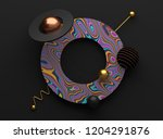 3d render of abstract shapes.... | Shutterstock . vector #1204291876