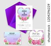 wedding invitation with love... | Shutterstock .eps vector #1204296229
