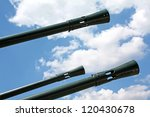 Cannon tubes - stock photo