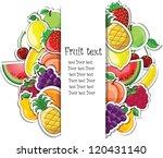 Fruit Background  Vector...