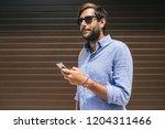 portrait of handsome caucasian...   Shutterstock . vector #1204311466