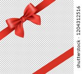 red ribbon and bow isolated... | Shutterstock .eps vector #1204312516