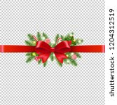 christmas garland transparent... | Shutterstock .eps vector #1204312519