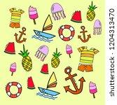 summer background vector icon   Shutterstock .eps vector #1204313470