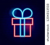 present box neon sign. vector... | Shutterstock .eps vector #1204313533