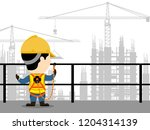 visual drawing of cartoon at... | Shutterstock .eps vector #1204314139