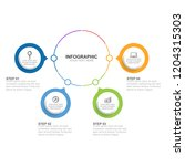 infographic template with... | Shutterstock .eps vector #1204315303