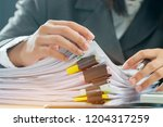 accounting planning budget...   Shutterstock . vector #1204317259