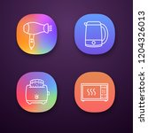 household appliance app icons... | Shutterstock .eps vector #1204326013
