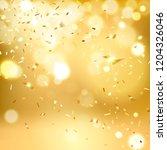golden  falling confetti on a... | Shutterstock .eps vector #1204326046